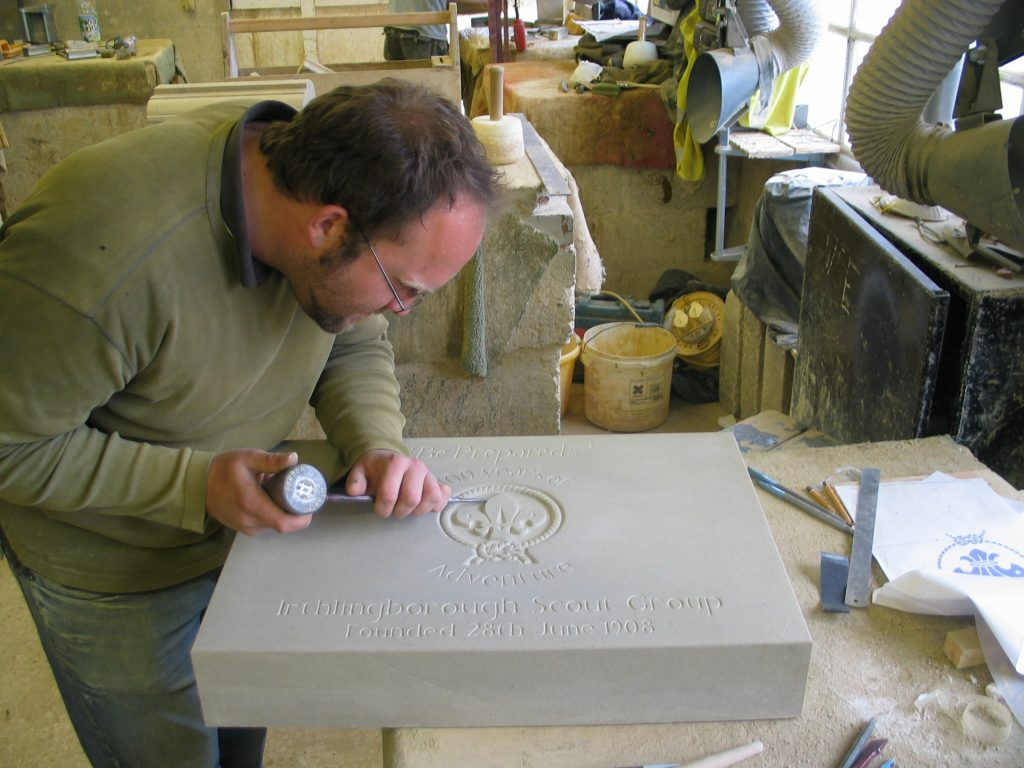 HEADSTONES, PLAQUES AND CARVING